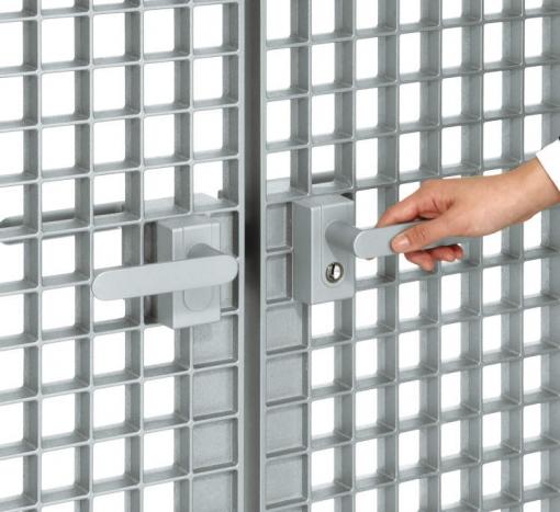 レバーハンドル錠。開閉時のラッチ音を抑えた静音仕様です。