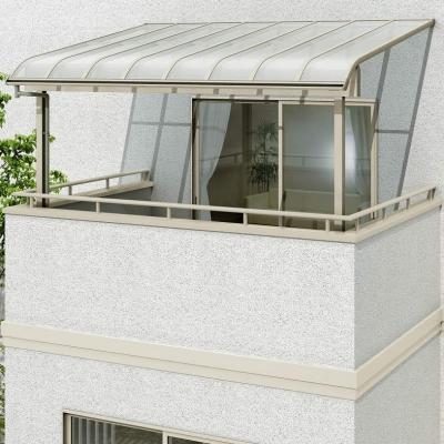 ヴェクターテラス R型 屋根タイプ 単体 間口2760㎜×出幅1470㎜ 柱奥行移動 ポリカーボネート屋根