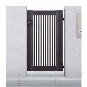 門まわり付帯工事:片開門扉取付