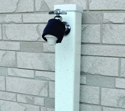 蛇口アダプターと保護カバーを取付