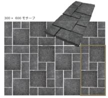 エイジング 方形乱貼パターン