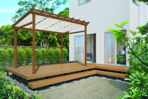 木調テラス「ナチュレ」と組み合わせてナチュラルな風合いを演出